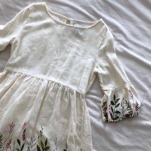•Old Navy• Cream Bell Sleeve Dress